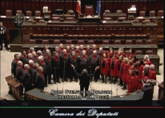 Concerto alla camera dei deputati coro stelutis for Video camera dei deputati