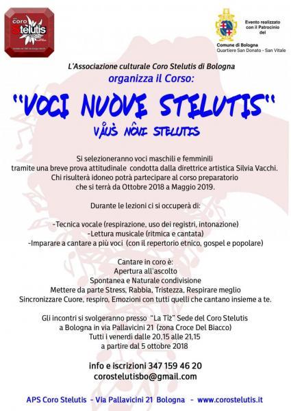 Corso Voci Nuove Stelutis Dal 05-10-2018