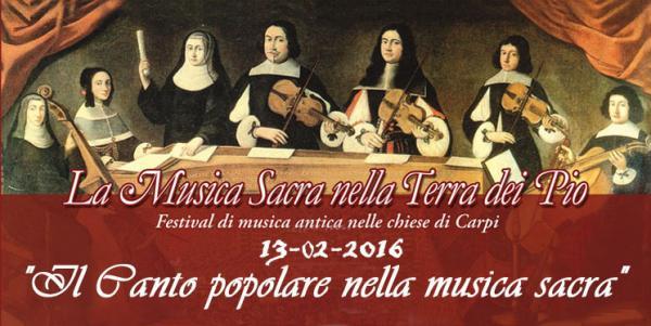 """CARPI """"Il Canto popolare nella musica sacra"""""""