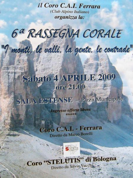 Première YouTube del Concerto a Ferrara in Sala estense del 4 Aprile 2009