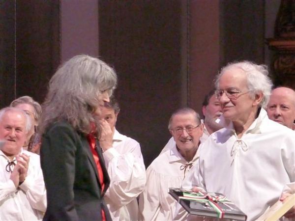 Silvia Vacchi e Giovanni Torre al termine della serata